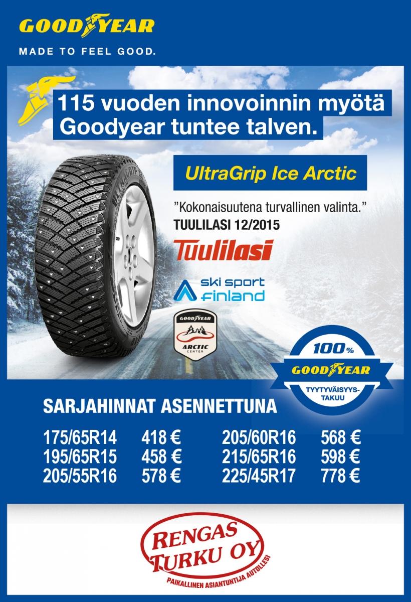 Goodyear Ultragrip Ice Arctic Kokemuksia